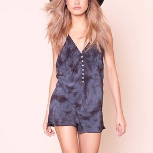 Free People walkabout washed tie dye romper